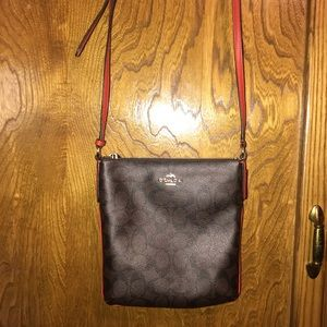 Authentic Brown Coach Crossbody Bag / Purse